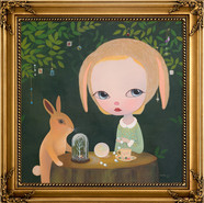 Moonstone by the Rabbit in the Woods, 2020, Acrylic on Canvas Wood Frame, 92x92cm.jpg
