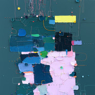 The Memory of the Unconscious 409, 91x91 cm, Mixed media on Canvas, 2020.jpg