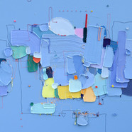 The Memory of the Unconscious 404, 73x73 cm, Mixed media on Canvas, 2020.jpg