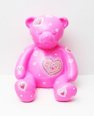 8. Lucky bear, 30x33x30cm, Acrylic on po