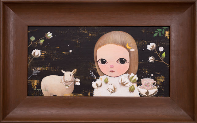 Cotton forest, sheep with pearls