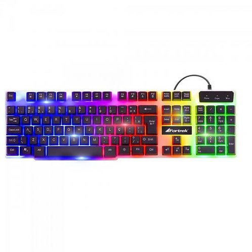 TECLADO GAMER MULTIMÍDIA CHROMATIC GK-710 LED COLORIDO FORTREK