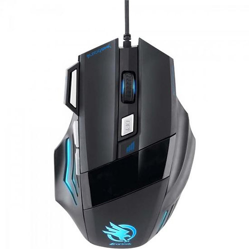 MOUSE GAMER BLACK HAWK OM-703 PRETO E AZUL FORTREK