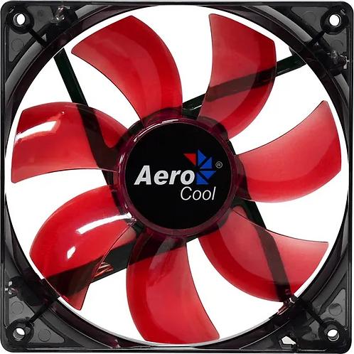 COOLER FAN 12CM RED LED VERMELHO AEROCOOL