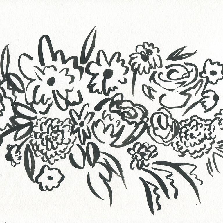 Bouquet Painting Pop Up