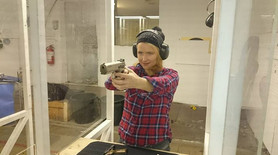 Trying out shooting for the first time