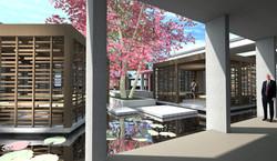 Courtyard water presence
