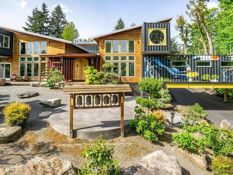 $2M Home Built From 11 Shipping Containers Is an Asian-Inspired Sanctuary