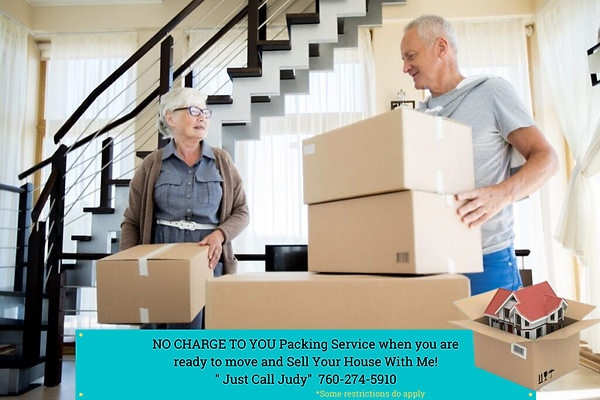 NO CHARGE TO YOU Packing Service when Se