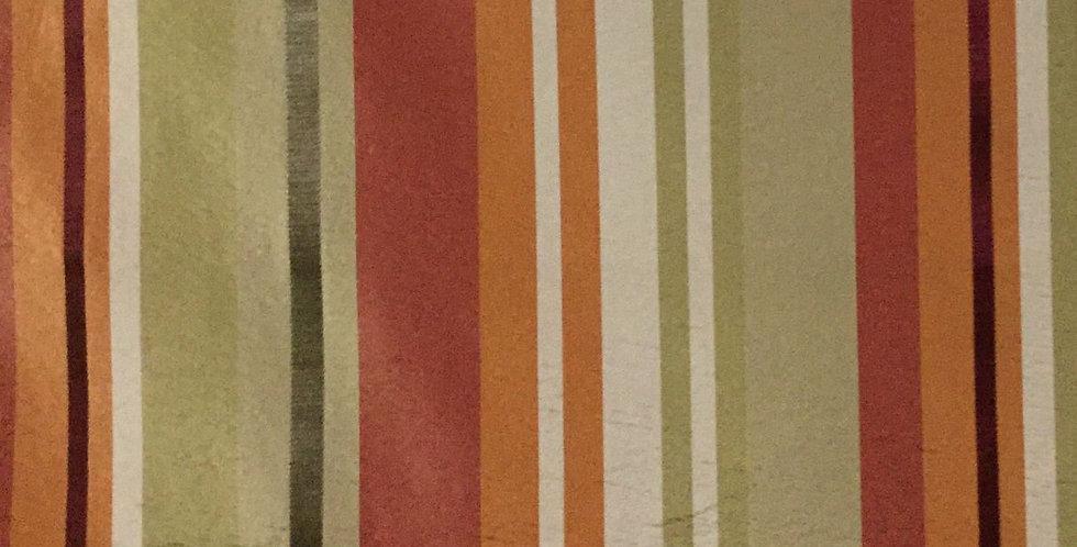 Red, Orange, Green Silk Stripe