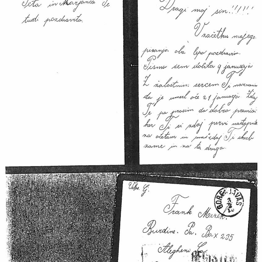 M Mazek Black Ringed Letter 1