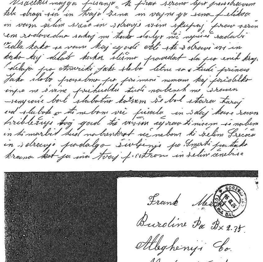 M Mazek September 1924 Letter 1