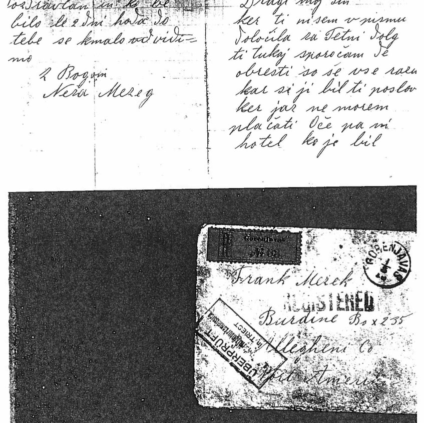 M Mazek May 1915 Letter 1