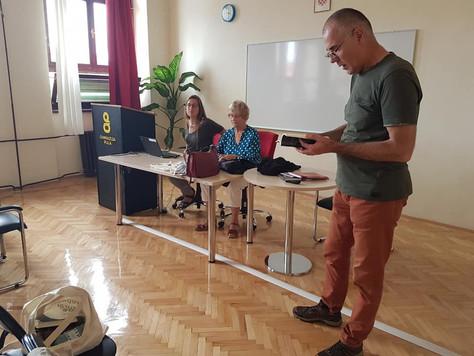 Gosti ZiN-a Maritza Stanchich, Riet Delsing i Milo Jukić u posjetu pulskoj Gimnaziji