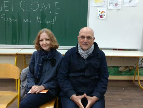 Michael G. Stephens i Susan Wolan u OŠ Centar u Puli