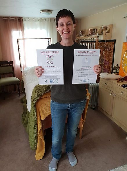 Marcia Staples Qualified Tuning Fork Sound Therapist