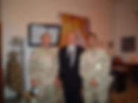 Lt. Gen. David Petraeus, CBS News Anchor Dan Rather and me