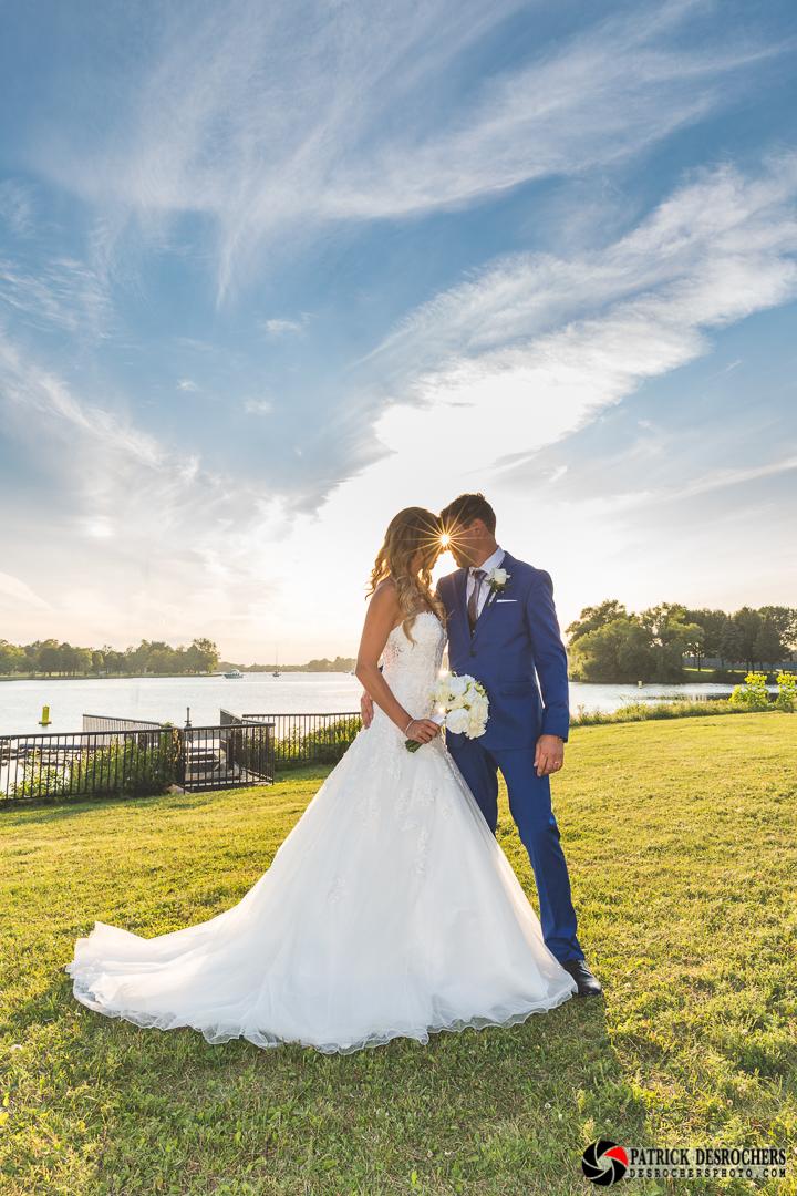 Mariage couché de soleil