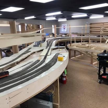 Upper deck is still being built
