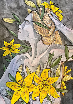 Faerie with Lilies