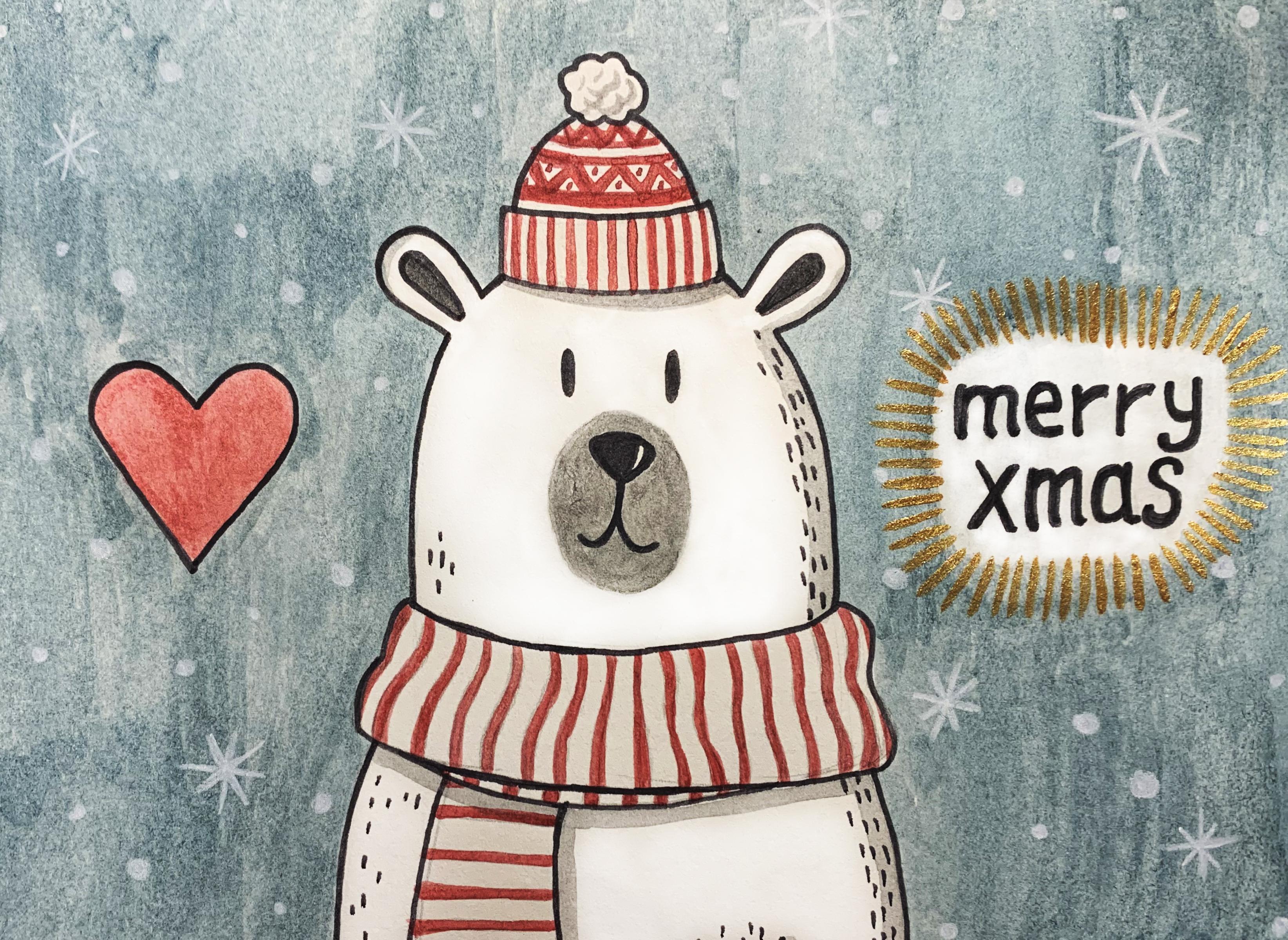 Merry Xmas Bear card