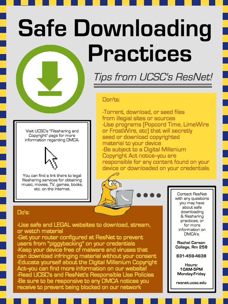 Safe Downloading Practices Flyer
