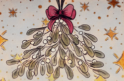 Mistletoe Card