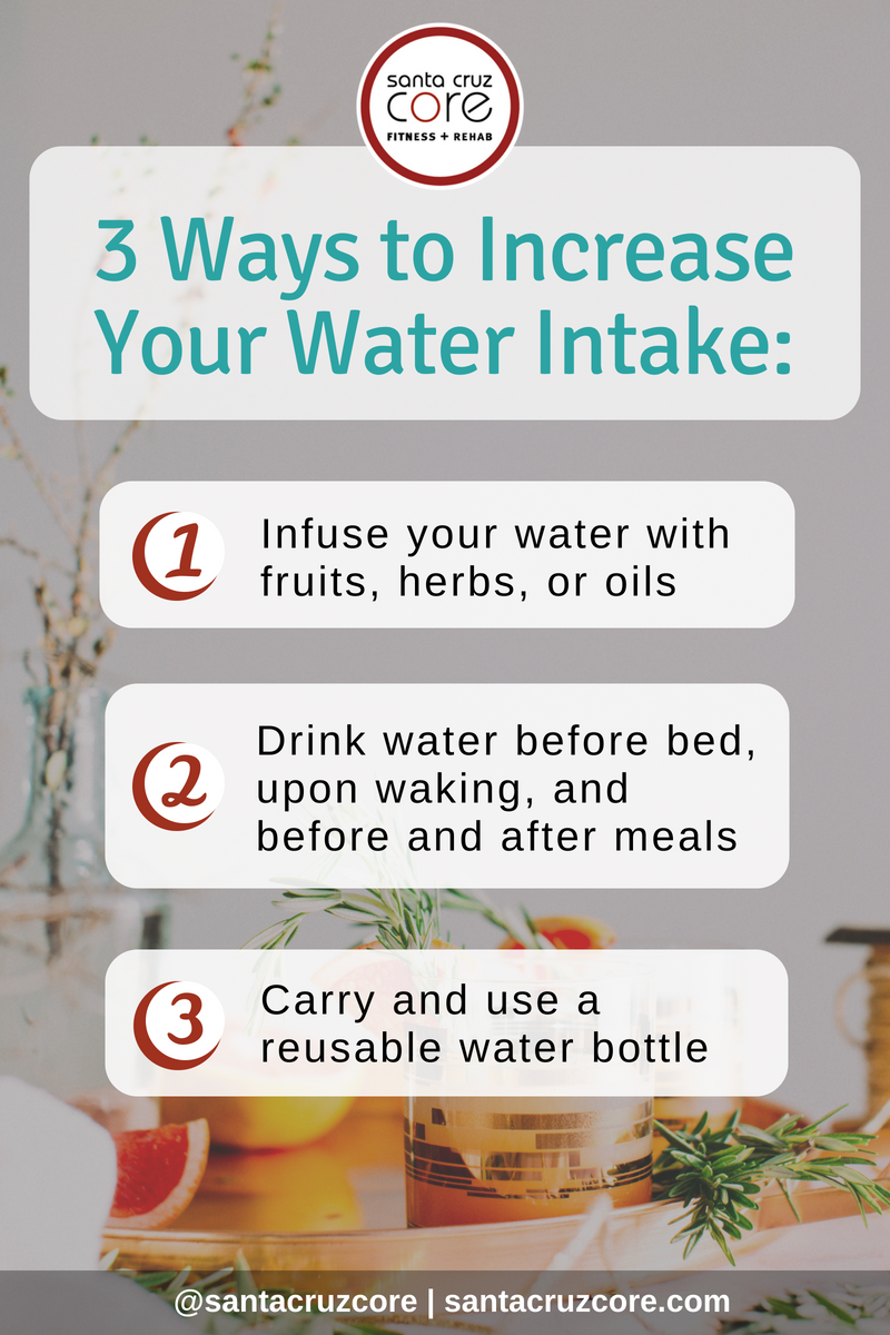 3 Hacks to Increase Water Intake