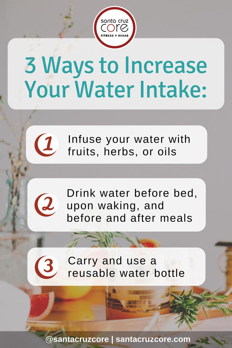 3 Hacks to Increase Water Intake