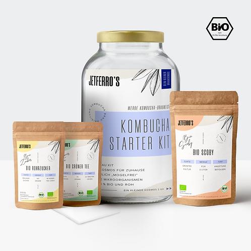 Kombucha Starter Kit mit Bio Kombucha-Teepilz und Zubehör
