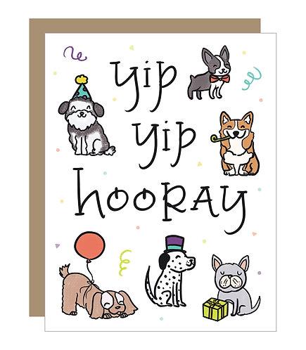 Yip Yip Hooray Card (6 Singles)