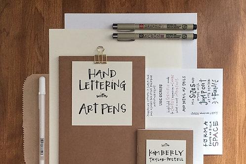 Hand Lettering with Art Pens Starter Kit