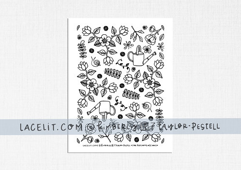Little Garden Project Coloring Sheet Printable Download