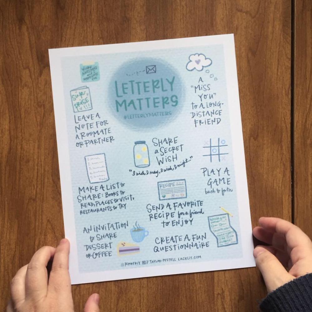 Lacelit's Letterly Matters free downloadable art print