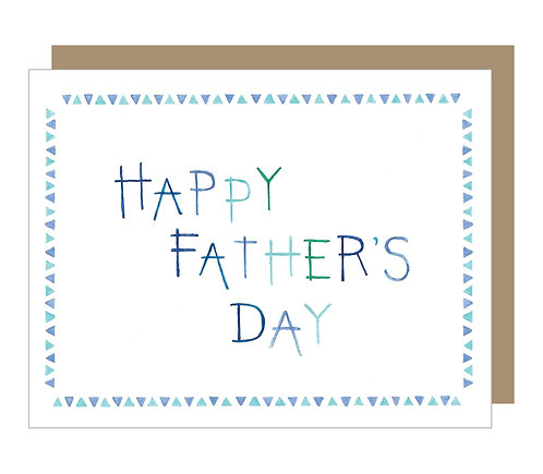 Father's Day Watercolor Card (6 singles)