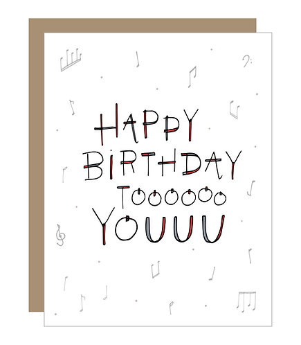 Birthday Song Card (6 Singles)