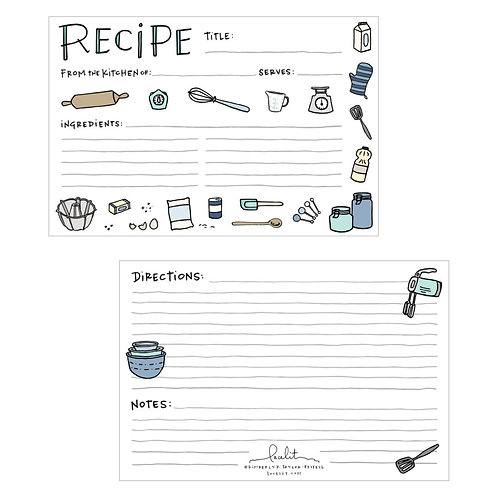 Sweet Recipe Card Set (3 sets of 12)