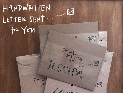 Handwritten Father's Day Card Mailing Service