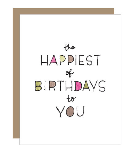 Happiest of Birthdays (Magenta) Card (6 Singles)