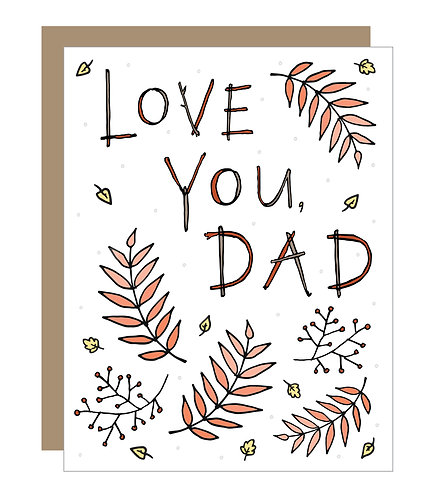 Love You, Dad Card (6 singles)
