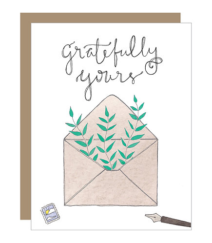 Gratefully Yours Card (6 singles)