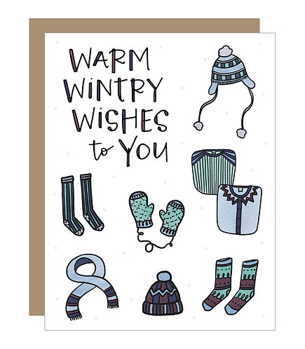Warm Wintry Wishes Card (6 singles)