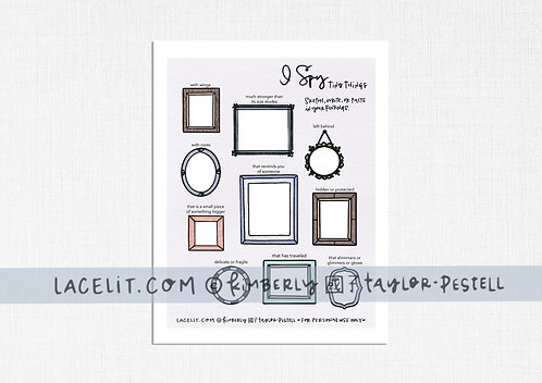 I Spy Tiny Things Game Sheet Printable Download