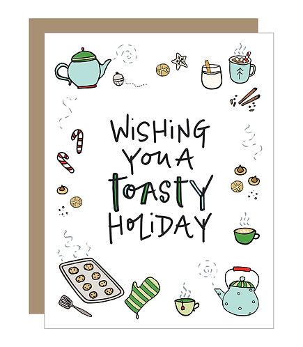 Toasty Holiday Card (6 singles)