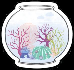 Little Fishbowl Sticker (6 singles)