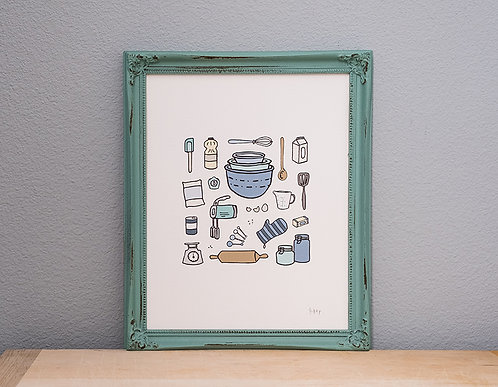 Wake to Bake Art Print (3 prints)