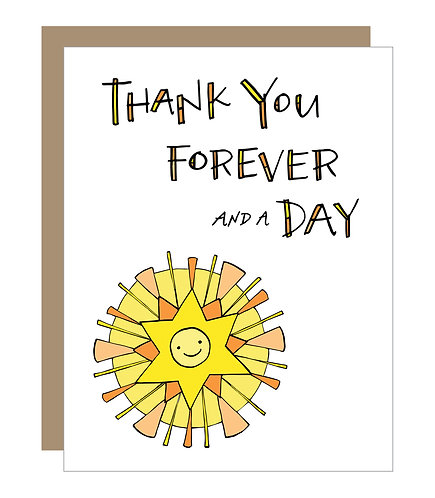 Forever and a Day Card (6 singles)