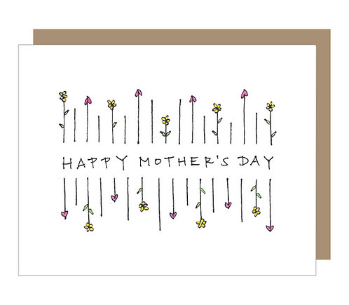 Mother's Day Flowers Card (6 singles)