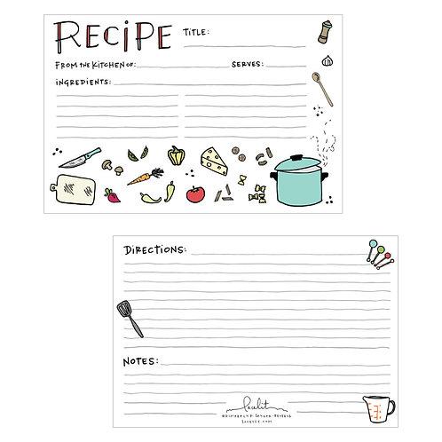 Savory Recipe Card Set (3 sets of 12)