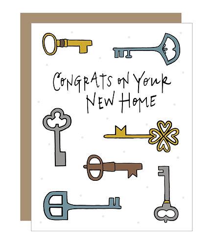 New Home Congrats Card (6 singles)